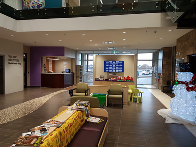 Lobby of Branscome Mental Health Centre